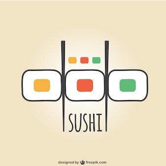 Logotipo do sushi colorido