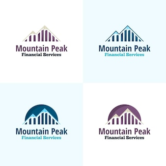 Logotipo do vetor Mountain Peak