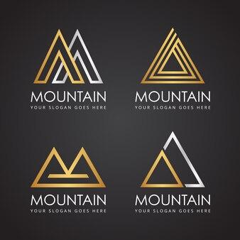 Logotipo elegante da montanha