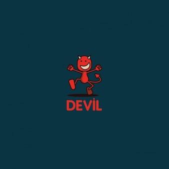 Logotipo engraçado diabo