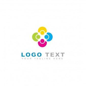 Logotipo feliz da reunião