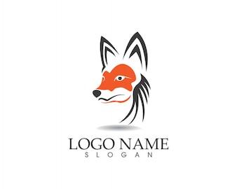 Logotipo Fox Head e aplicativo de modelo de símbolos