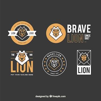 Logotipo geométrico do leão