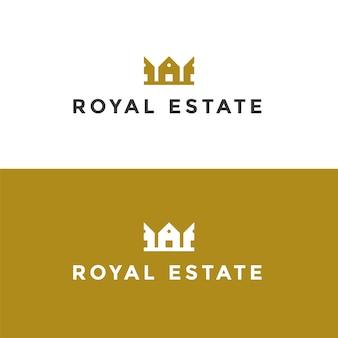 Logotipo imobiliário com design dourado