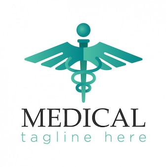 Logotipo médico, cor brilhante