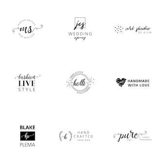 Logotipo minimalista templates coleção