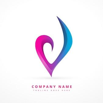 Logotipo modelo abstrato colorido