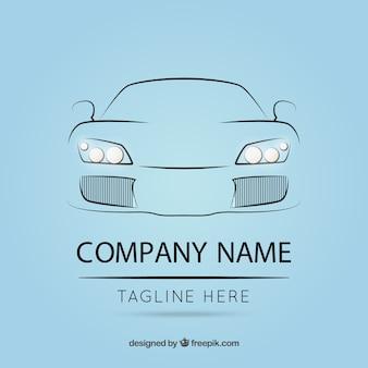 Logotipo modelo com esboço carro