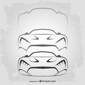Logotipo modelo de carro vitnage