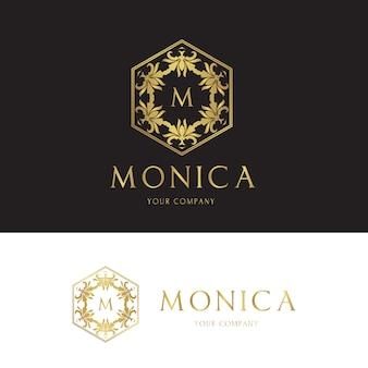Logotipo modelo de luxo