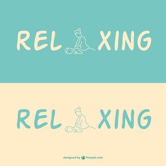 Logotipo modelo massagem