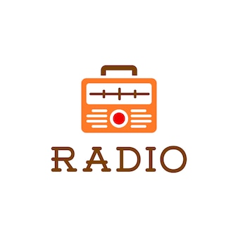 Logotipo retro do rádio