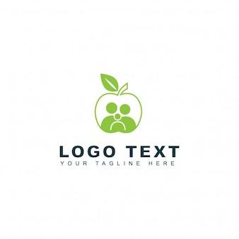 Logotipo saudável da família