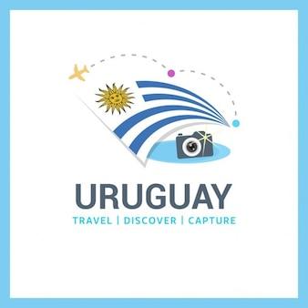 Logotipo Uruguai do curso da bandeira