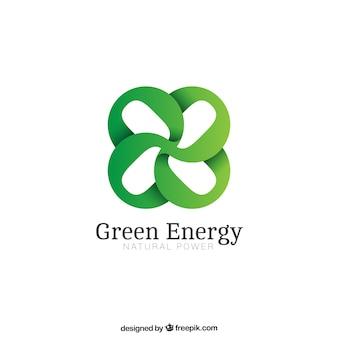 Logotipo verde da energia