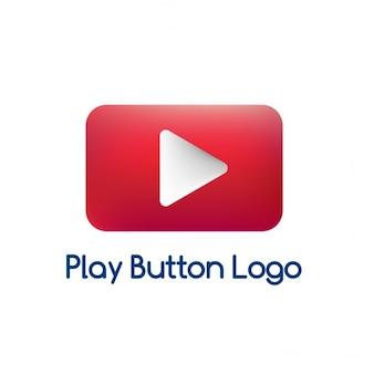 Logotipo vermelho, reprodução de vídeo