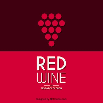 Logotipo vinho tinto