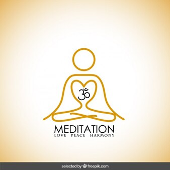 Logotipo yoga Abstracto
