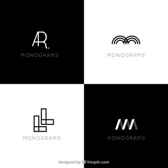 Logotipos abstratos modernos