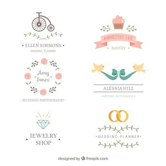 Logotipos bonitas do casamento