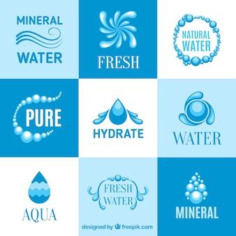 Logotipos de água mineral