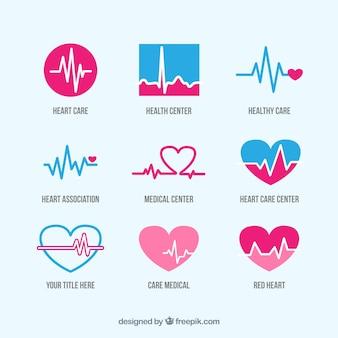 Logotipos de cuidados de saúde