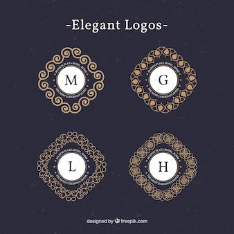 logotipos do vintage com letras maiúsculas