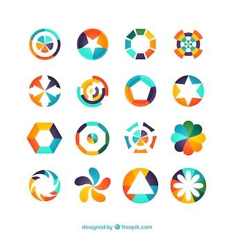 Logotipos geométrico colorido