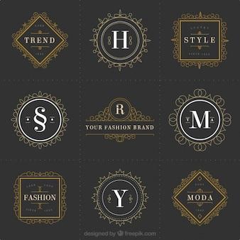 Logotipos moda ornamental
