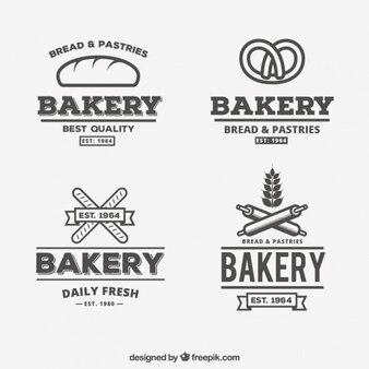 Logotipos padaria no estilo do vintage