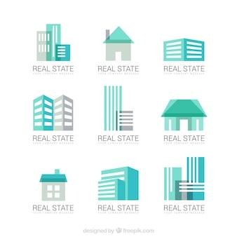 Logotipos turquesa imobiliários