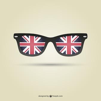 London óculos bandeira do vetor