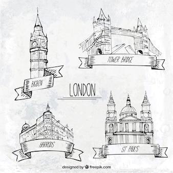 Londres monumentos esboçado