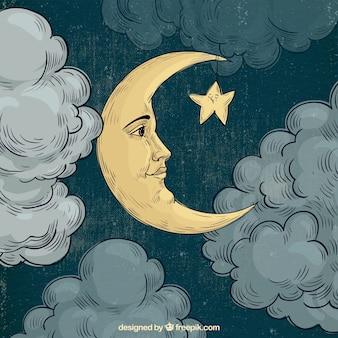 Lua rosto fundo