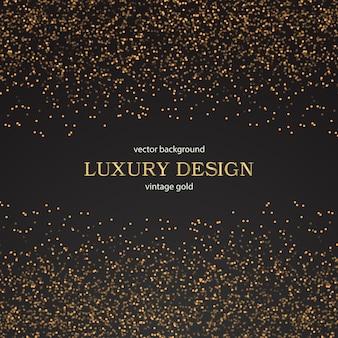 Luxo parede dourado fundo floral vintage padrão Vector