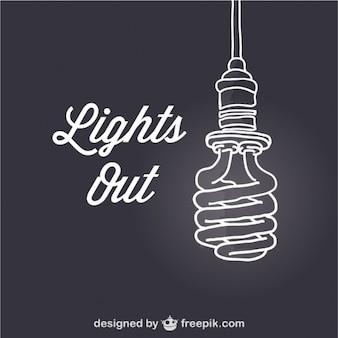 Luzes apagadas template