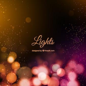 Luzes de Bokeh fundo