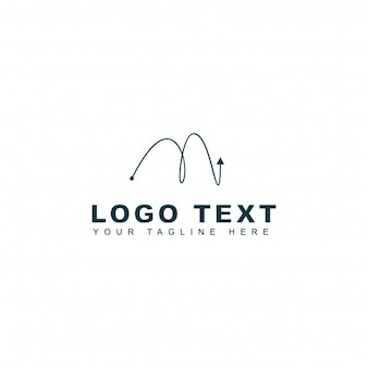 M Letter Template do logotipo