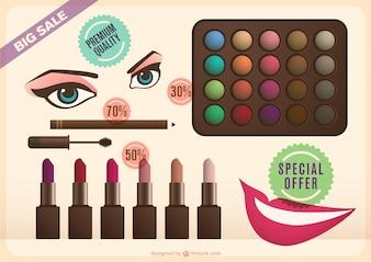 Make-up do gráfico de vetor