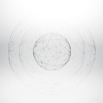 Malha esfera wireframe