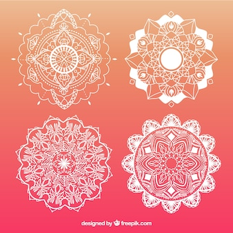 Mandalas ornamentais abstratas