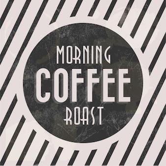 Manhã cartaz assado café