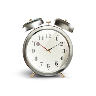 Manhã início eficiência clássico metálico