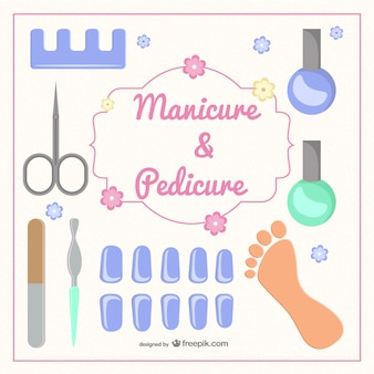 Manicure e pedicure vector