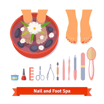 Manicure pedicure foot spa beauty care set