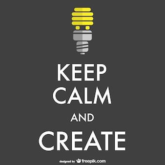 Manter a calma e criar cartaz