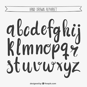 Mão alfabeto escrito