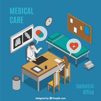 Mão cuidados médicos desenhada