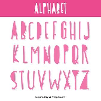 mão-de-rosa alfabeto desenhado