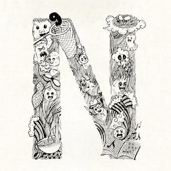 Mão, desenhado, letra, fundo